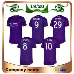 jersey orlando Rebajas 2020 MLS Club Orlando City en casa Camisetas de fútbol 19/20 # 10 COLMAN # 8 J. MENDEZ camiseta de fútbol DWYER NANI Uniforme de fútbol