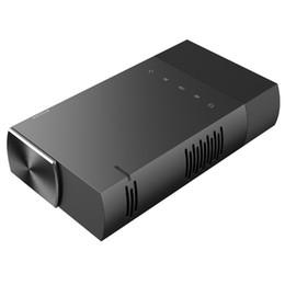 Hdmi mini micro online-Mini Proyector Ultra Mini Proyector portátil 1080p Compatible con HD DLP LED Recargable Pico Projector con HDMI, USB, TF y Micro SD