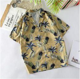 robes tropicales Promotion Nouveau mode été tropical manches courtes hommes chemises chemises florales lâche élégante chemise de ville Voyage occasionnel élégante Beach Shirt taille: S-4XL