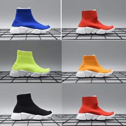 Canada Nouveau Tricot Speed Mid High Infant Sneaker Enfants Chaussures de course Chaussures de sport pour enfants, filles et garçons chaussures Chaussettes tricotées Trainer cheap infant shoe socks boys Offre