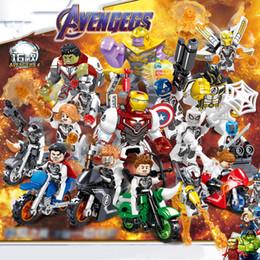 puzzle di orologio in legno Sconti Marvel blocchi Imposta 16pcs lotto Avengers / Infinity War Minifig supereroe Captain America Figure Building Blocks Giocattoli