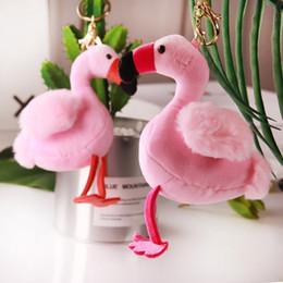 Canada Mode Flamingo En Peluche En Peluche Porte-clés Fluffy Rose Mignon Porte-clés Pour Les Femmes Sac De Voiture Porte-clés Bijoux Accessoires supplier pink car stuff Offre