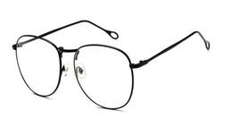 Große rahmenbrillen online-Flache Linsen-Straßenaufnahmen des klassischen Retro-Rahmens der Mode zeigen dünne Metallschauspiel-Rahmennetzrote Boutique-Gläser