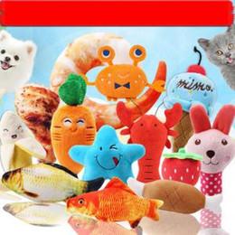 Suonare suoni animali online-Masticare i giocattoli Peluche Pet Toy Cat Denti Rettifica Giocattoli Vegetable Fruit Squeaker Per Puppy Cartoon Animal Sound Gioca Chewing Toy VVA240