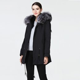 Лисийский мех онлайн-Women park with natural  fur real fur coat and jacket with hood winter warm three colors. Incomplete size, low price.