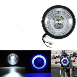 luce del motociclo Sconti Faro universale per moto Angel Eye LED Light Running Hi / Lo Beam