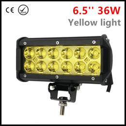 2019 6.5 lumières spot spot 6.5 '' 36W YELLOW LED barre de travail pour voiture ATV tracteur hors route 4WD bateau 4x4 SUV camion UTV moto LED spot faisceau ambre 4300K promotion 6.5 lumières spot spot