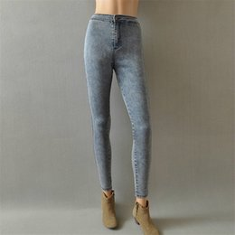 59929960535fa stonewashed jeans 2019 - High Waist Jeans For Women Casual Stretch Female  Pencil Jeans Lady Vintage