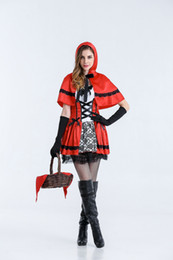 sexy party tv xxl Coupons - Women Cosplay Dress Little Red Riding Hood Halloween Theme Costume Female Funny Sexy Evening Party Stage Clothes Free Shipping