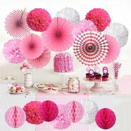 2019 оптовые африканские аксессуары для волос Бумажный вентилятор цветок бумажный цветок шары наборы день рождения бумажный вентилятор цветок для decoratin торговый центр событие украшения праздничное украшение A07