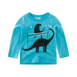 2020 modelos de camiseta de los niños 2019 Ropa para niños Modelos de primavera Camiseta de manga larga para niños Ropa para niños Camisa con fondo de bebé Chicos Camisetas modelos de camiseta de los niños baratos