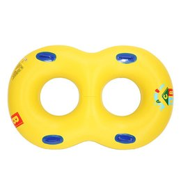 Надувные номера онлайн-Inflatable Two People Lovers Couples Swimming Ring Circle Double Mommy And Child Swim Rings Pool Float Chair Seat Number 8