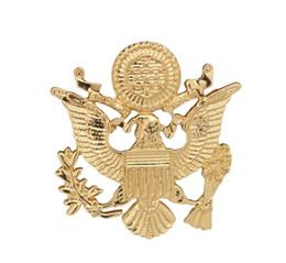 Lujo US Army Eagle Wings Broche Insignia Traje de los hombres Broche Moda Retro Broches Collar de Metal Pin al por mayor 12 unids / lote desde fabricantes