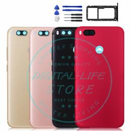 Para Xiaomi Mi A1 MiA1 Tapa trasera de la batería Reemplazo de la carcasa de la puerta trasera Repuestos de reparación + Botón de volumen de alimentación Bandeja de tarjeta Titular desde fabricantes