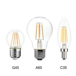 Lampe à verre ampoule lampe en Ligne-Lampada E27 LED Filament Lumière Dimmable Verre Blub Lampes 110V 220V LED Edison Lustre E14 G45 Ampoule Led Vintage 4W 8W 12W
