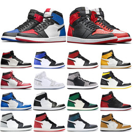 high cut schuhe für basketball Rabatt Hot 1 Männer Basketball-Schuh-OG im Spiel Spur Rot Royal 1s Top 3 Rookie Of The Year Multi Color Sneakers