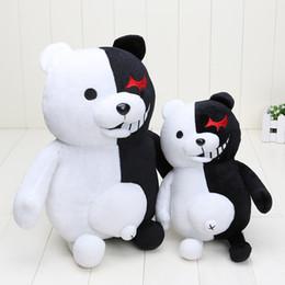 animali di roccia nera Sconti Dangan Ronpa Super Danganronpa 2 Orso Bianco Monokuma nero peluche di animale farcito bambole Regalo di Natale