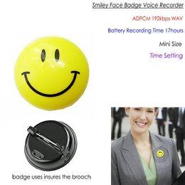 Pinhole 8G Badge Digital Voice Recorder con Voice Activated da