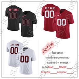 2019 camisas de rugby da faculdade Barato personalizado Alabama Crimson Tide NCAA Jersey Costurado Personalizado Qualquer nome número Jersey HOMENS MULHERES JOVENS FUTEBOL JERSEYS XXS-6XL