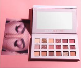 Sombra de olhos cor de rosa on-line-Nova maquiagem HUDAbelieve Deserto rosa Rosa 18 Cores perolizados Brilho Matte Eyeshadow Palette Beleza sombra de Olho