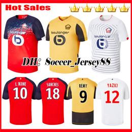 2019 2020 Sanches Yazici Lille Soccer Jersey 19 20 Home maglia da trasferta rosso giallo dorato magliette terze camicie da calcio bianche Maillot de foot cheap yellow spandex shirt da camicia spandex gialla fornitori