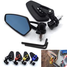 """Ktm honda online-Para la motocicleta espejo de 7/8"""" 22mm moto espejo retrovisor lado del extremo del manillar para Yamaha Kawasaki KTM Suzuki Honda BMW Ducati etc."""