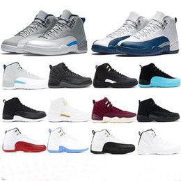 Tecido da marinha on-line-Jumpman 12 Basketball Shoes Designer Sports CNY Gym Red Michigan Navy College Running Shoes para as Mulheres Homens Sapatilhas