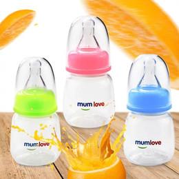 Pequeñas botellas de medicina online-Amor maternal por los bebés Cuidado de los recién nacidos con zumo de frutas biberón, medicina y agua potable 80 ml Biberón pequeño Fácil de llevar