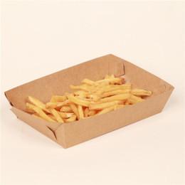2019 insalata monouso all'ingrosso Vassoio per alimenti Cartone Hot Dog Patatine fritte Piatti Piatti Contenitore per l'imballaggio alimentare Stoviglie monouso