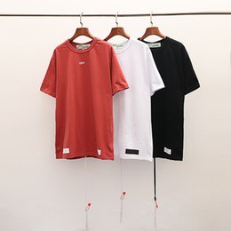 2019 camisas baratas do branco das crianças t OFF WHITE 2019 SS Nova Chegada Top Quality Marca Designer de Roupas Masculinas Camisetas Moda Feminina Imprimir Tees EURO Tamanho S-XL 1048