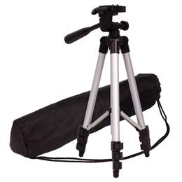 Kopf montiert camcorder kameras online-Kamerastativ Aluminium Professionelle Videokamera Halterung Bein Verstellbarer Ständer mit flexiblem Kopf für Canon Nikon DV DSLR Camcorder Gopro Cam