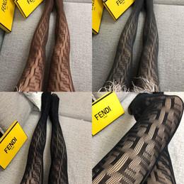 i calzini alti del ginocchio fanno il commercio all'ingrosso Sconti donne oversize Collant F lettere logo collant sexy calze sottili pagliaccetto jacquard calzini sexy estate femminile