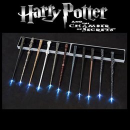 2020 led luminosi bacchette di harry potter Accessori per la casa di Harry Potter magia LED bacchetta Cosplay ardore Magic Wand Illuminazione di Harry Potter con il contenitore di regalo del partito Ocean Shipping HHA1574 led luminosi bacchette di harry potter economici