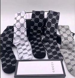 Носки нижнее белье онлайн-GG-01 PRINT Носки для мужчин и женщин Антибактериальные хлопчатобумажные носки 5 пар с коробкой SEXY Socks Underwear