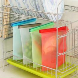 Sacchetto di conservazione degli alimenti 4 colori sacchetto di immagazzinaggio alimentare 18 * 20.5 cm vuoto sacchetto saldabile gel di silice contenitori di cucina forniture 100 pezzi dhl da usa e getta bento all'ingrosso fornitori