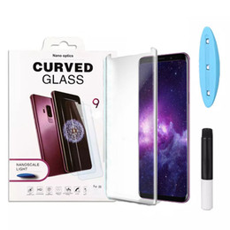 2019 lg 3d led УФ-закаленное стекло протектор экрана полный клей изогнутый для iPhone XS MAX Huawei Mate 20 Pro P20 Lite чехол дружественный со светодиодной подсветкой для LG V40 дешево lg 3d led