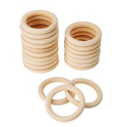 Kreisringverbinder online-70 MM Holz DIY Handwerk Anschlüsse Kreise Natürliche Holzringe Holzringe für Handwerk, Ring Anhänger Freies Verschiffen