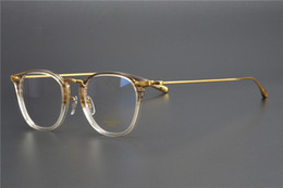 Óculos coreanos on-line-Handmade Prescription titânio puro óculos retro adesivo óculos moldura Homens Optical Miopia Óculos olho de vidro por Mulheres OV5307 coreano