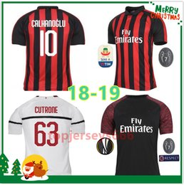 Top quality Milan HIGUAIN Soccer Jerseys home 2018 2019 SUSO ROMAGNOLI CUTRONE  KESSIE Milan away LOCATELLI CALHANOGLU 3rd football shirt 2b4615469
