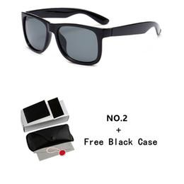 lunettes de soleil brillantes Promotion Lunettes de soleil de designer de luxe 4165 Lunettes de soleil classiques unisexes 54mm Bright Black