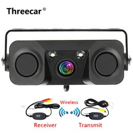vision rear view camera Coupons - 3 In 1 Car Night Vision Rear View Camera Radar Parking Sensor 170 Degree View Angle IP67 with 2.4G Wireless Transmitter Receiver