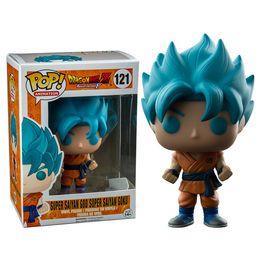 Grande figura de ação goku on-line-Grandes vendas Funko POP Dragon Ball Z Super Saiyan Deus Super Goku Figura de Ação de Vinil com Caixa # 121