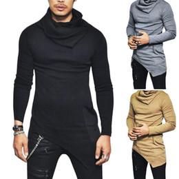 eb523fc6d189 Discount shirts men khaki long sleeve - Men s Slim Fit T Shirt Men Long  Sleeve Side