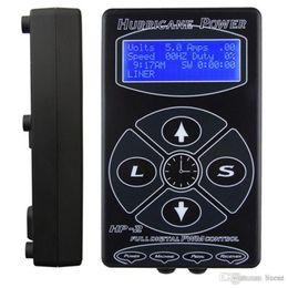 Venta al por mayor-Mejor venta de la fuente de alimentación del tatuaje Fuente de alimentación LCD Tattoo Digital Fuente de alimentación dual Unidad de tatuaje Negro Hp2 Envío gratis desde fabricantes