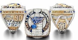 muy buenas flores Rebajas 2018 2019 St. Louis Blues' Stanley Cup campeonato anillos Ventilador regalo de los hombres al por mayor de 2019 envío de la gota