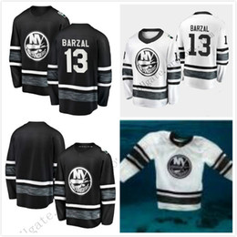 Cheap 2019 All Star Jerseys Mens 13 Mathew Barzal New York Islanders Black  White Blank Top Quality Men 2019 All-Star Patch Hockey Jersey df12b1de4