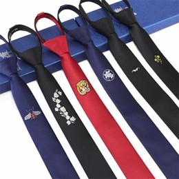 gravata dos homens do desenhista Desconto Laços dos homens preguiçoso gravata zíper magro dos homens negros gravata laços florais 5 cm pronto bowknot designers de moda 2 pçs / lote
