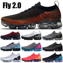 wholesale dealer cd93f 38526 men red zebra shoe Promo Codes - 2019 Knit 2.0 Running Shoes White Vast  Grey Tiger