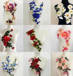 Grandi applique per ricami a fiori cucite su pacthes Abiti in tessuto a motivi di pizzo decorati Forniture per cucire fai da te da grandi applique fiore di pizzo fornitori