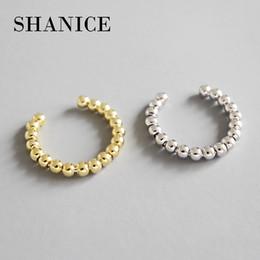 оптовые кольца стерлингового серебра Скидка SHANICE стерлингового серебра 925 открыть палец NS простой геометрический шарик бисером кольца для женщин свободный размер ювелирные изделия регулируемый